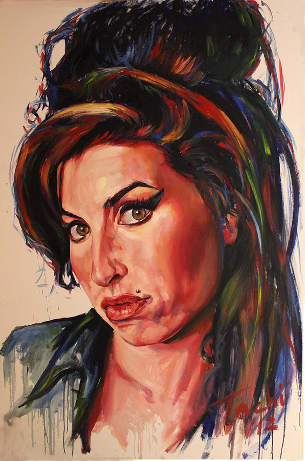 Amy Painting - Amy by Tachi Pintor