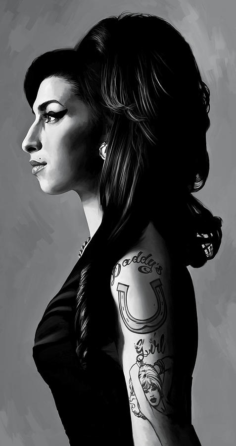 Amy Winehouse Paintings Painting - Amy Winehouse Artwork  2 by Sheraz A