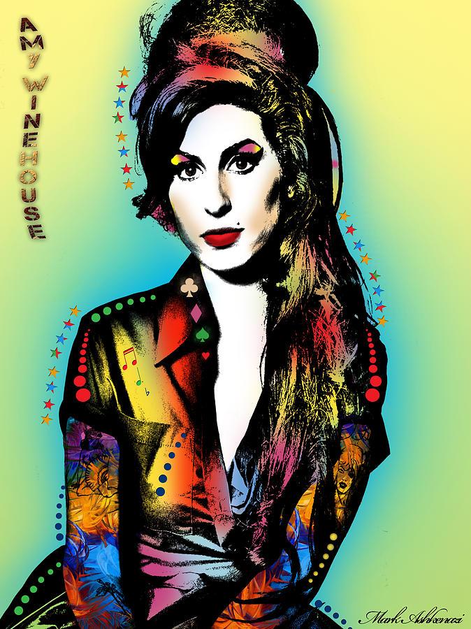 Amy Winehouse Painting - Amy Winehouse by Mark Ashkenazi
