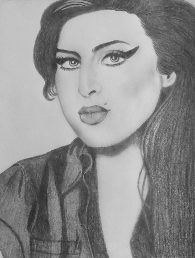 Amy Winehouse Drawing By Tina Murray