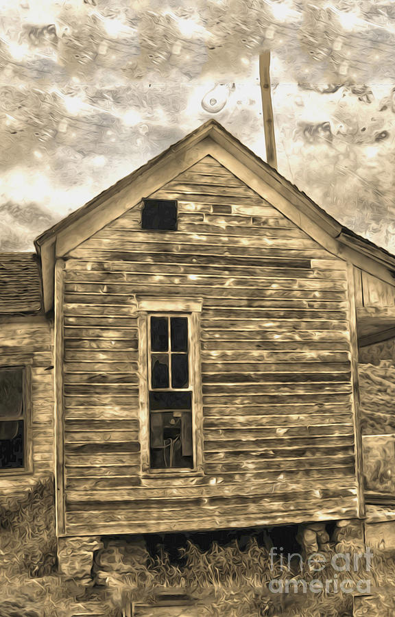 Haunted Shack Painting - An Abandoned Old Shack by Gregory Dyer