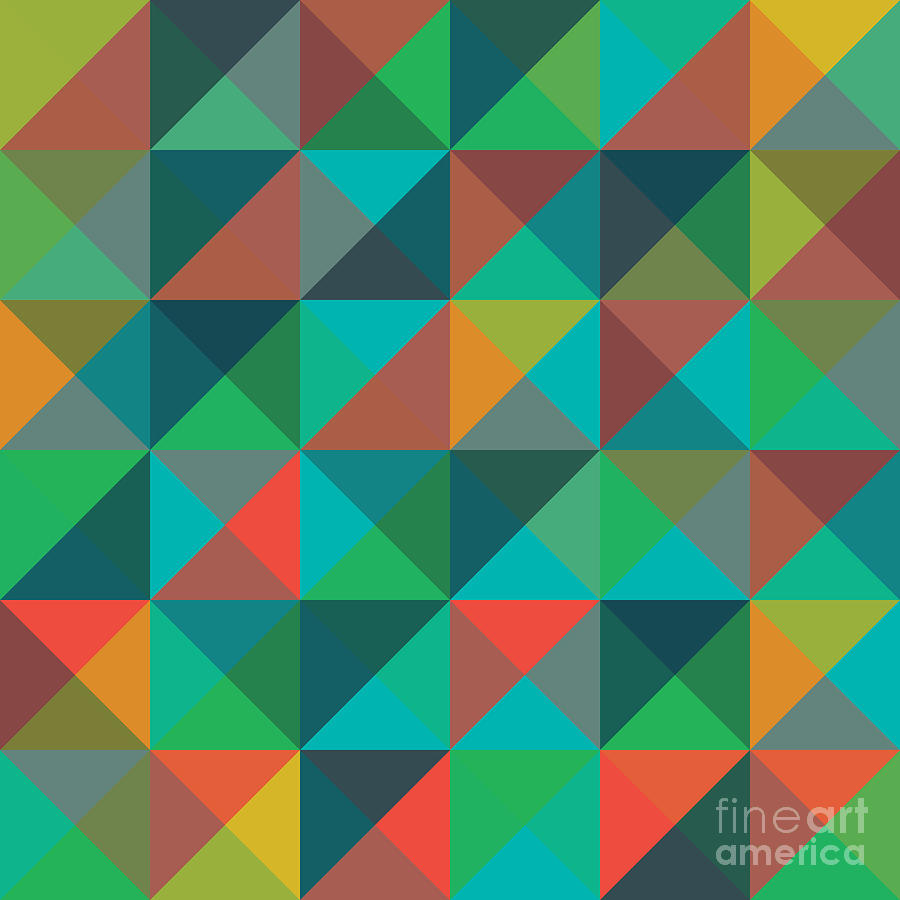 Pattern Digital Art - An Abstract Geometric Vector Pattern by Mike Taylor