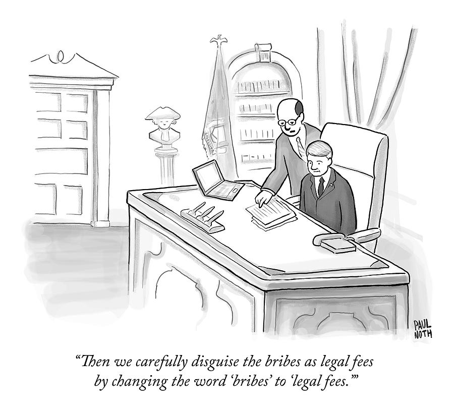 An Advisor Speaks To A Politician Who Is Sitting Drawing by Paul Noth