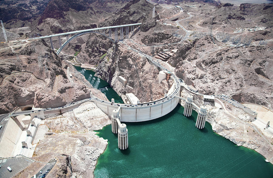 An Aerial View Of The Hoover Dam Photograph by Jennifer sharp