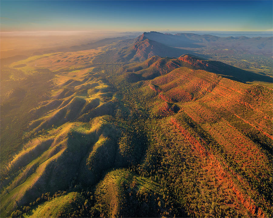 An Aerial View Of The Southern Flinders Photograph by Southern Lightscapes-australia