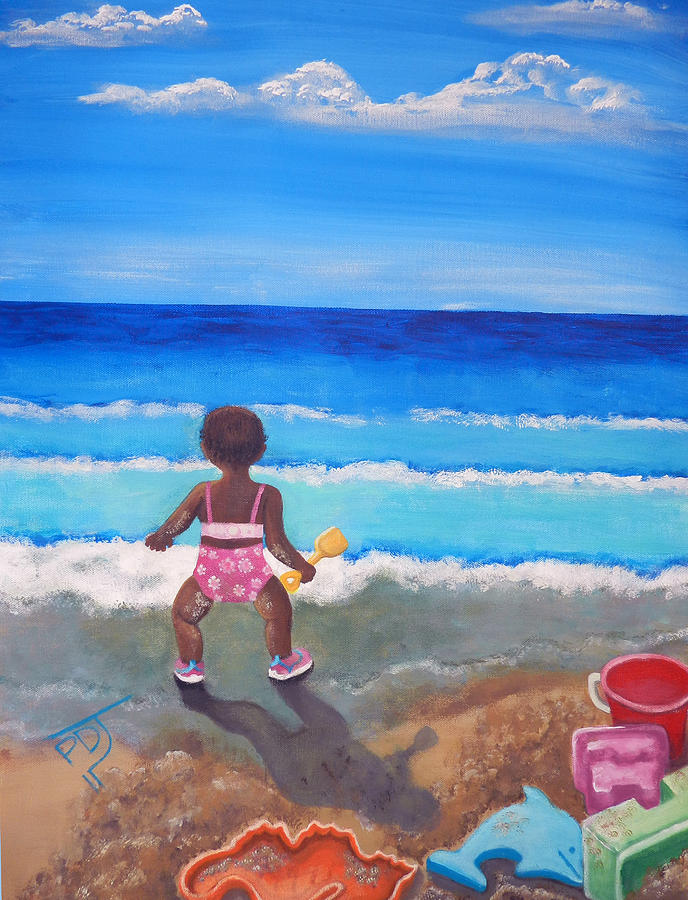 Sea Painting - An Affinity For The Deep by Pamorama Jones