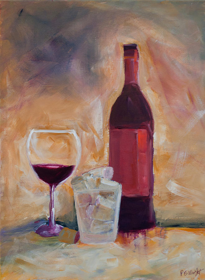 Red Painting - An Afternoon Well Spent by Paulette B Wright