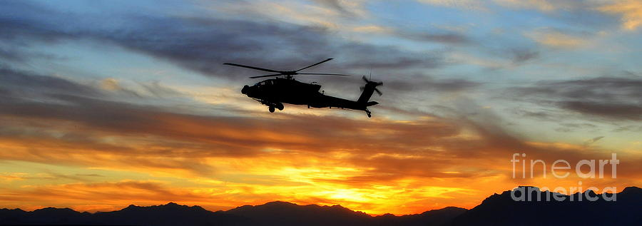 Helicopters Photograph - An Ah-64 Apache by Paul Fearn