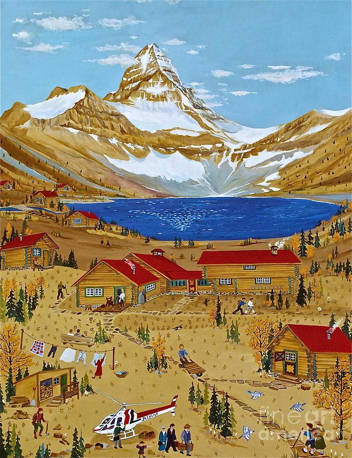 Lake Magog Painting - An Alpine Autumn by Virginia Ann Hemingson