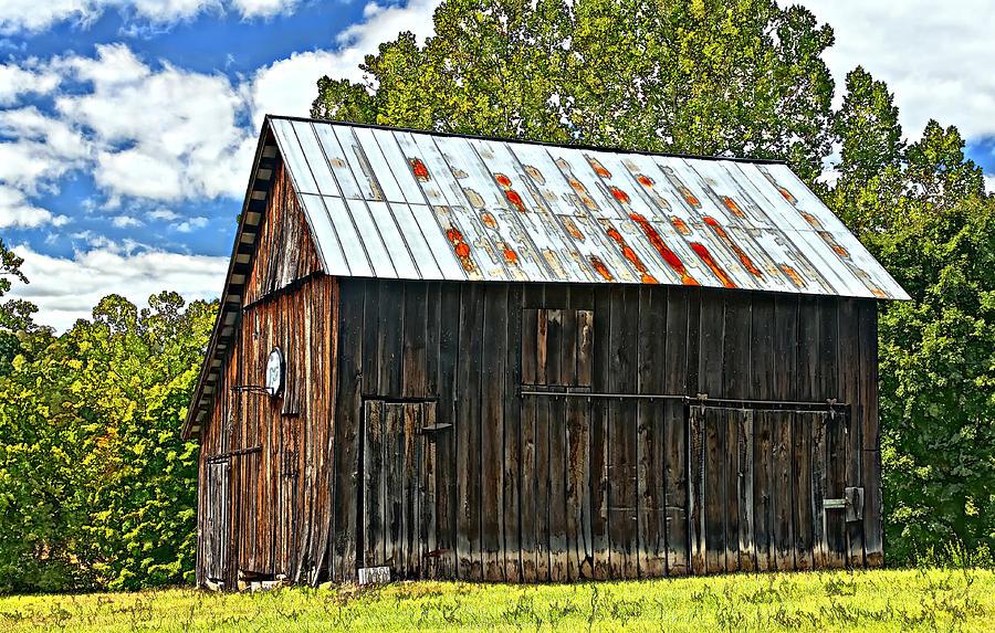 Barn Photograph - An American Barn 2 Painted by Steve Harrington