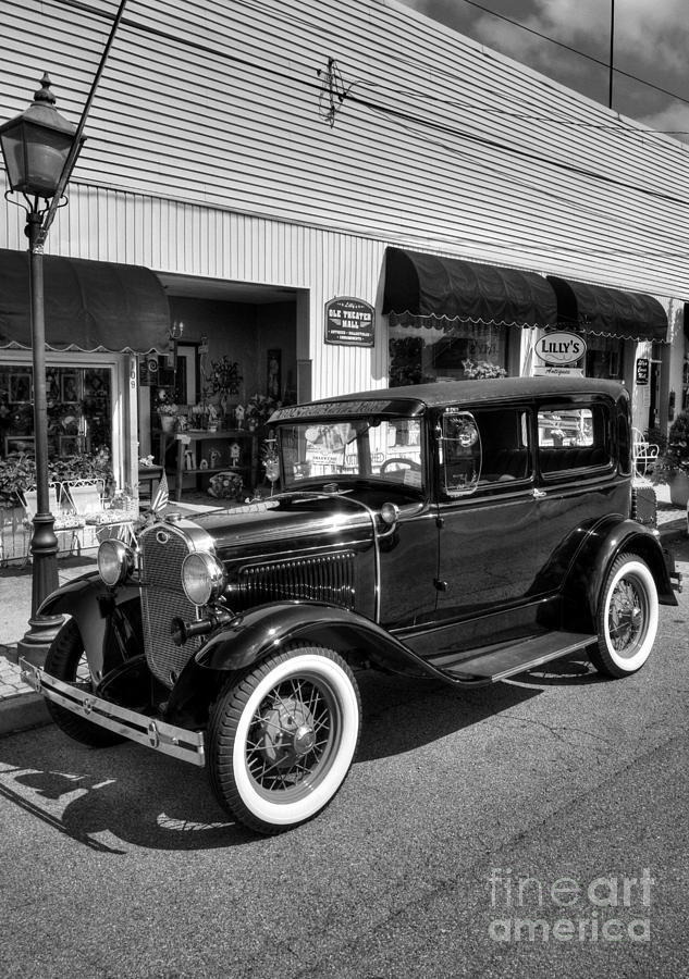 Vehicles Photograph - An American Classic Bw by Mel Steinhauer