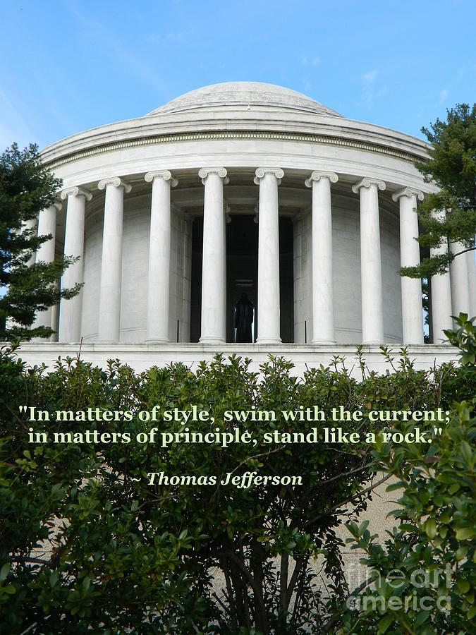 Jefferson Memorial Photograph - An American Founding Father by Emmy Vickers
