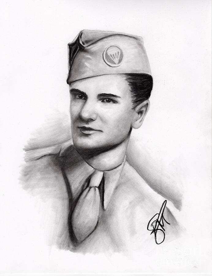 Ww2 Drawing - An American Hero by Rosalinda Markle