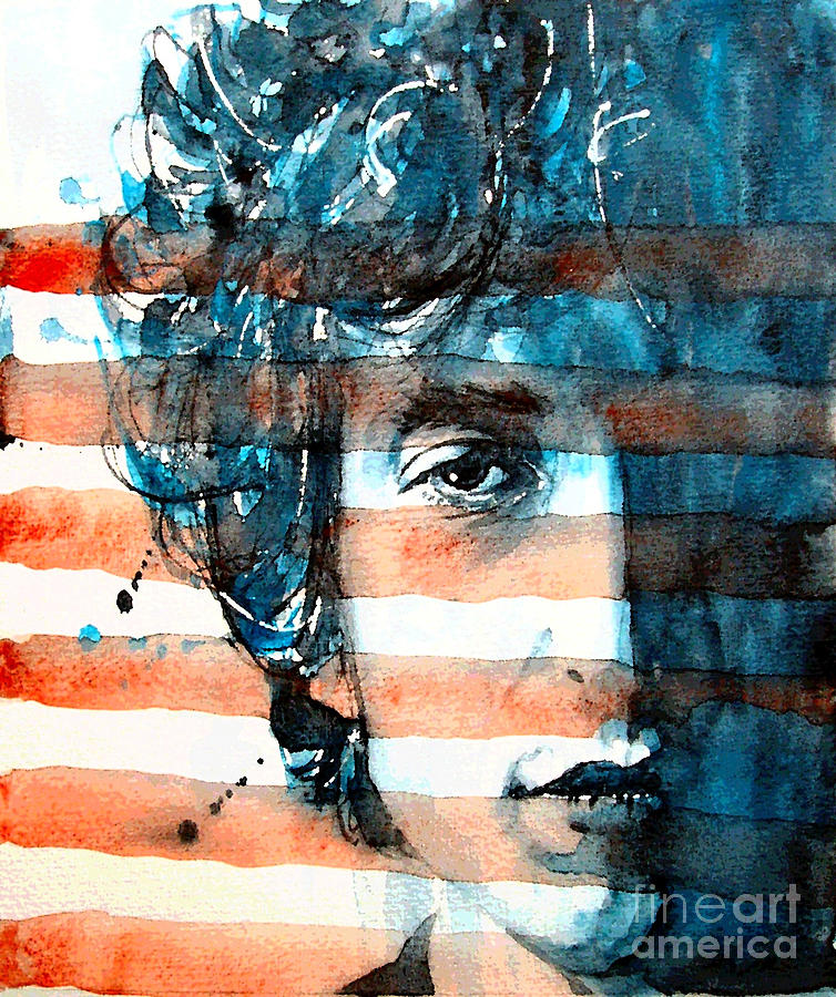 Bob Dylan  Painting - An American Icon by Paul Lovering