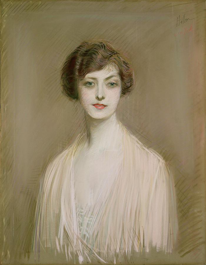 Portrait Painting - An American by Paul Cesar Helleu