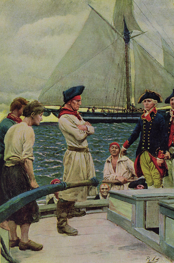 Pirate Photograph - An American Privateer Taking A British Prize, Illustration From Pennsylvanias Defiance by Howard Pyle