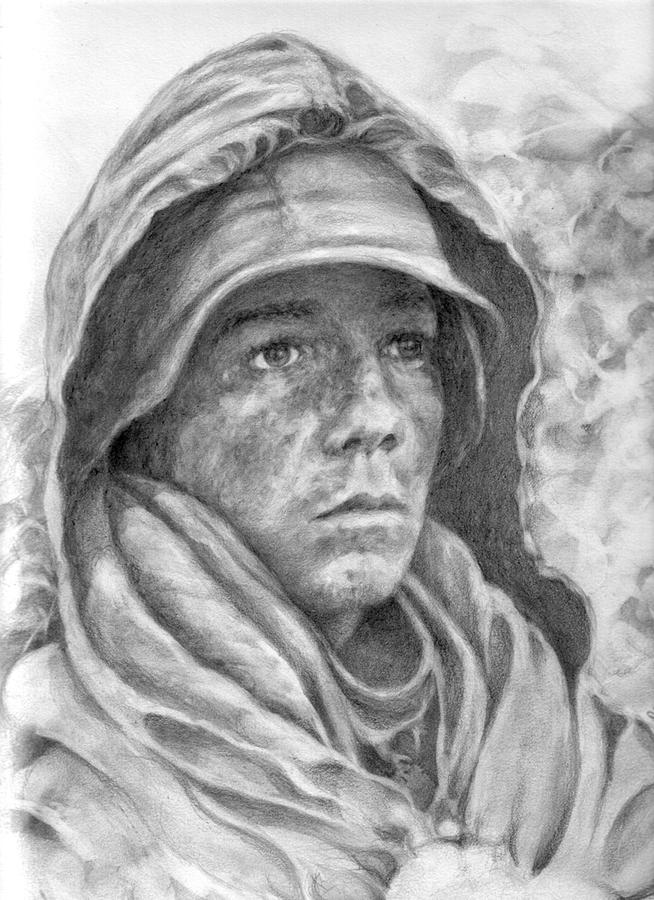 An American Soldier Drawing By Sead Pozegic