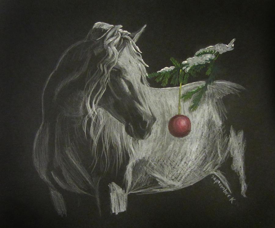 Christmas Horse Drawing.An Andalusian Christmas