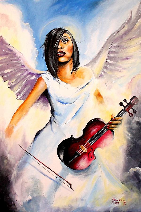Angel Painting - An Angel Performs by Henry Blackmon