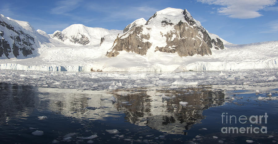 An Antarctic Bay Behind Danco Island Photograph