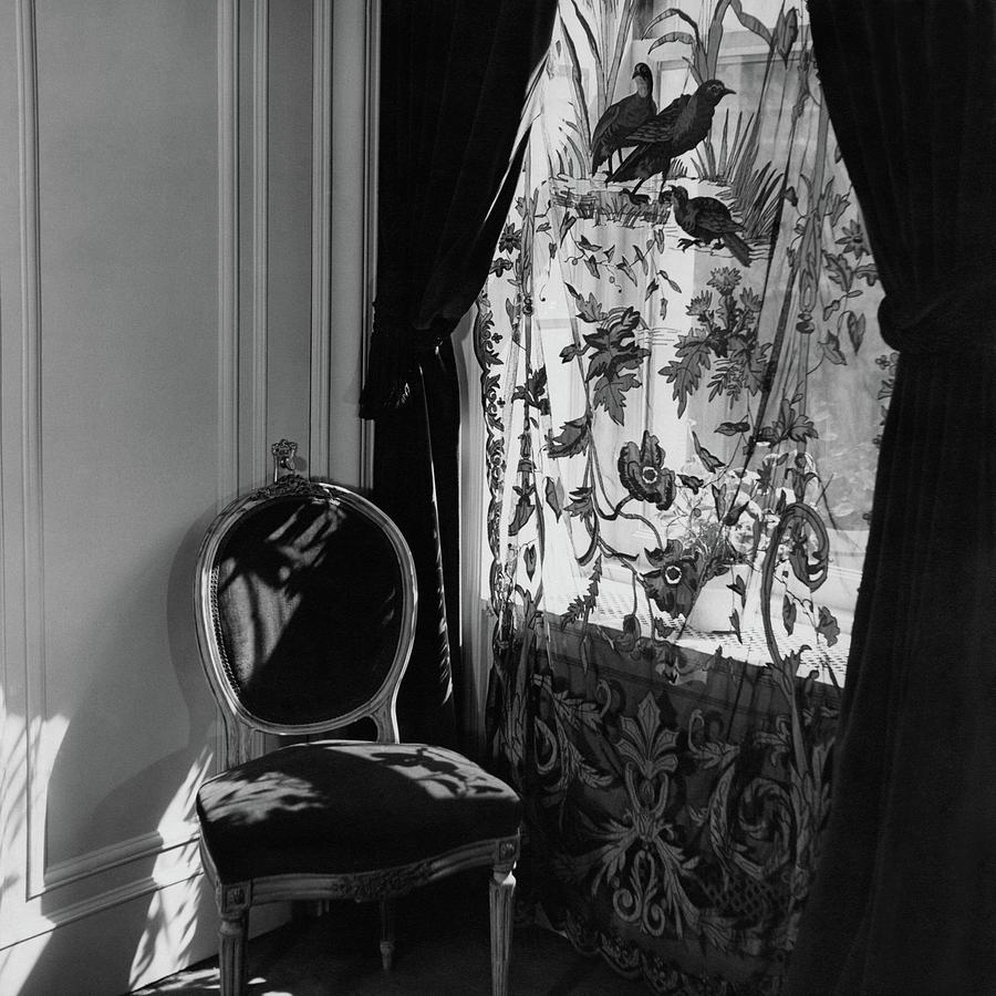 An Antique Chair By A Window Photograph by Cecil Beaton