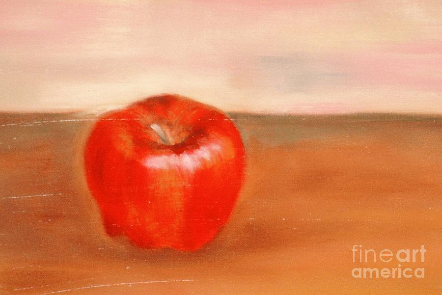 Apple Painting - An Apple A Day By Karen E. Francis by Karen Francis