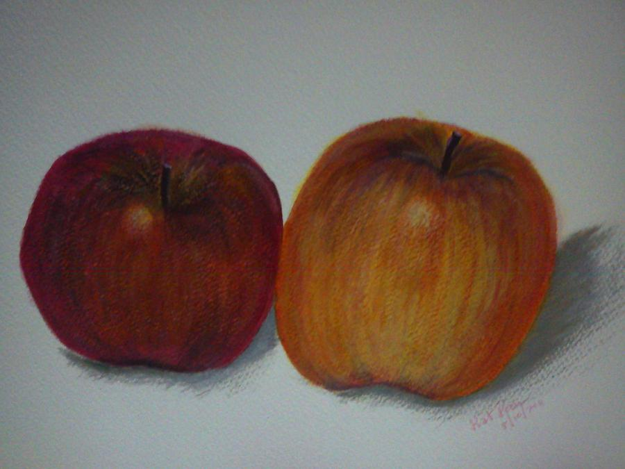 Apple Painting - An Apple A Day by Kat Poon