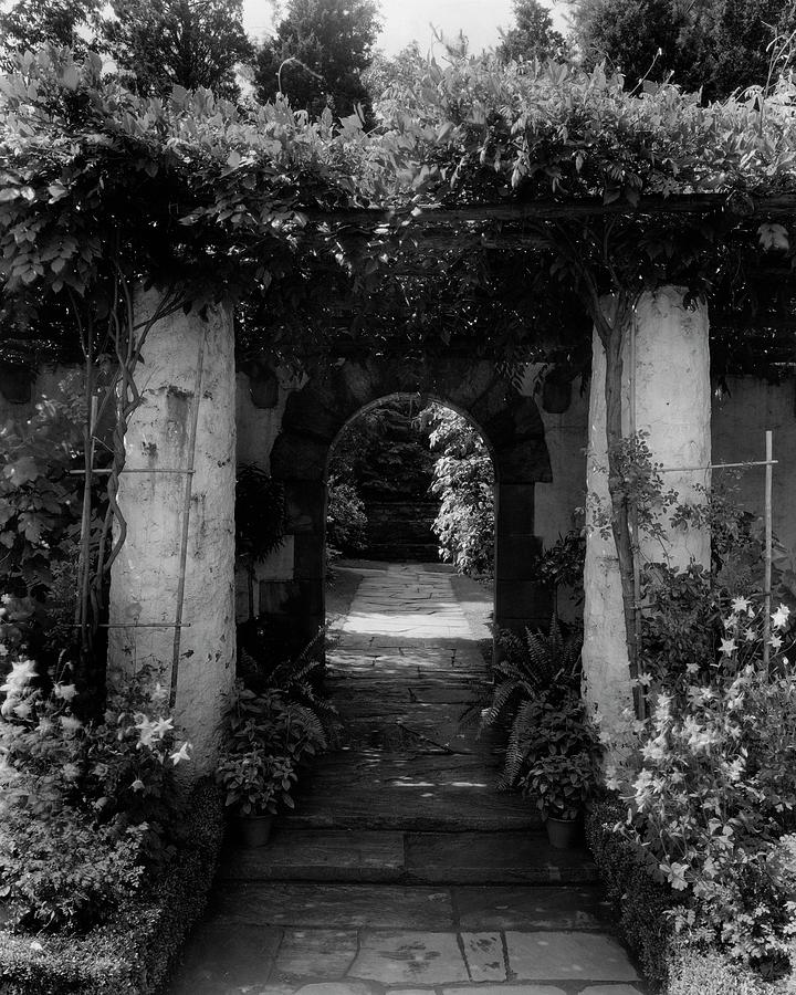 An Archway In The Garden Of Mrs. Carl Tucker Photograph by Harry G. Healy