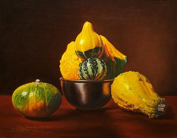 Still Life Painting - An Arrangement Of Gourds by Gary  Hernandez