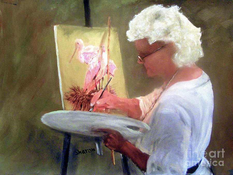 Painting Painting - An Artist At Work by Sharon Burger