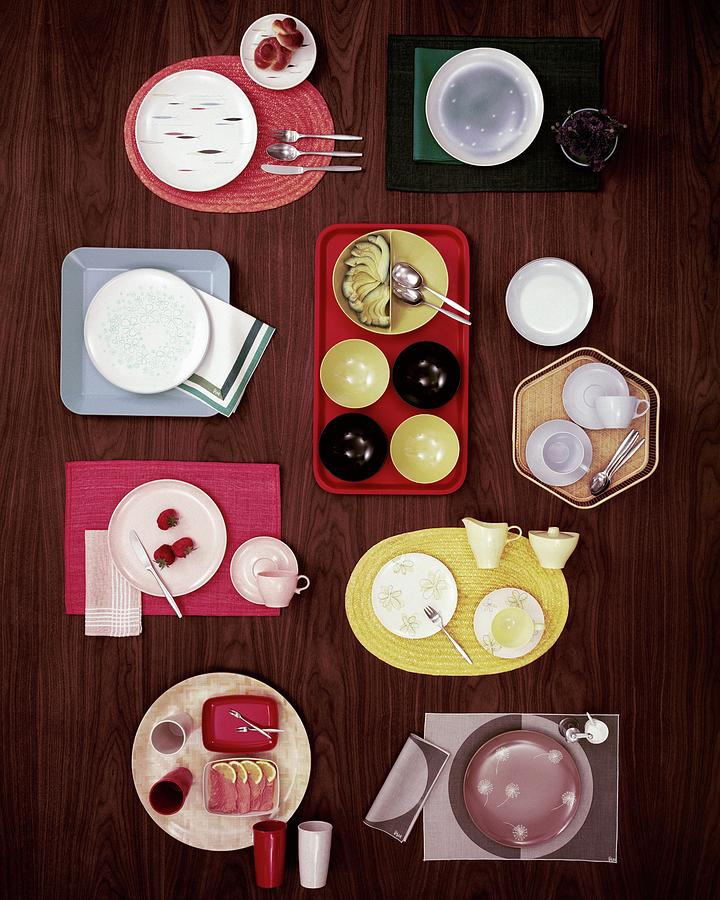 An Assortment Of Dinnerware Photograph by Tom Yee