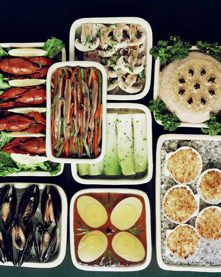 An Assortment Of Food In Containers Photograph by John Stewart