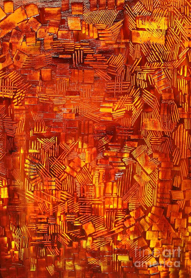 Autumn Painting - An Autumn Abstraction by Michael Kulick