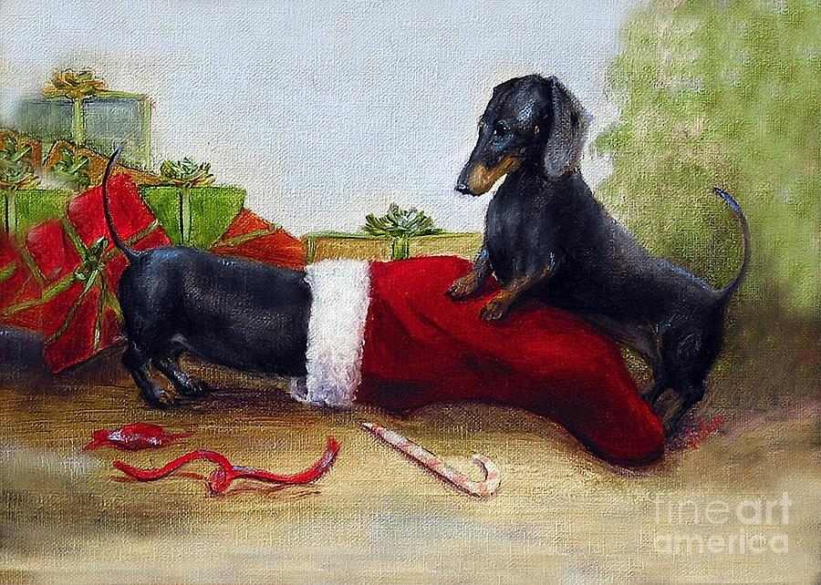 Christmas Painting - An Early Christmas by Stella Violano