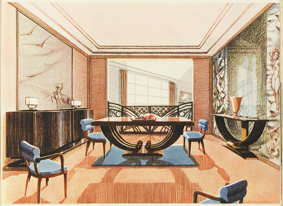 An Elegent Art Deco Dining Room