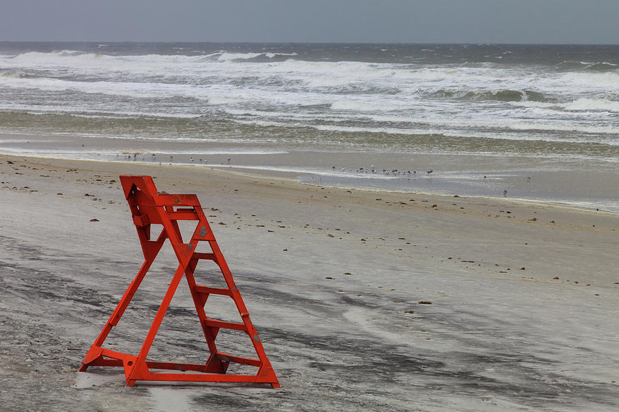 An Empty Lifeguard Chair Photograph by Diane Macdonald