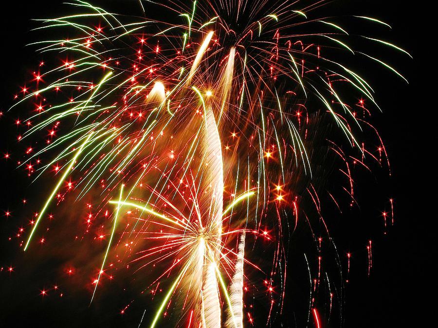 Fireworks Photograph - An Eruption Of Colors by Steven Parker