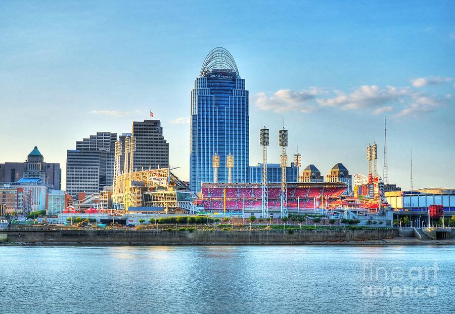 Cincinnati Photograph - An Evening Game by Mel Steinhauer