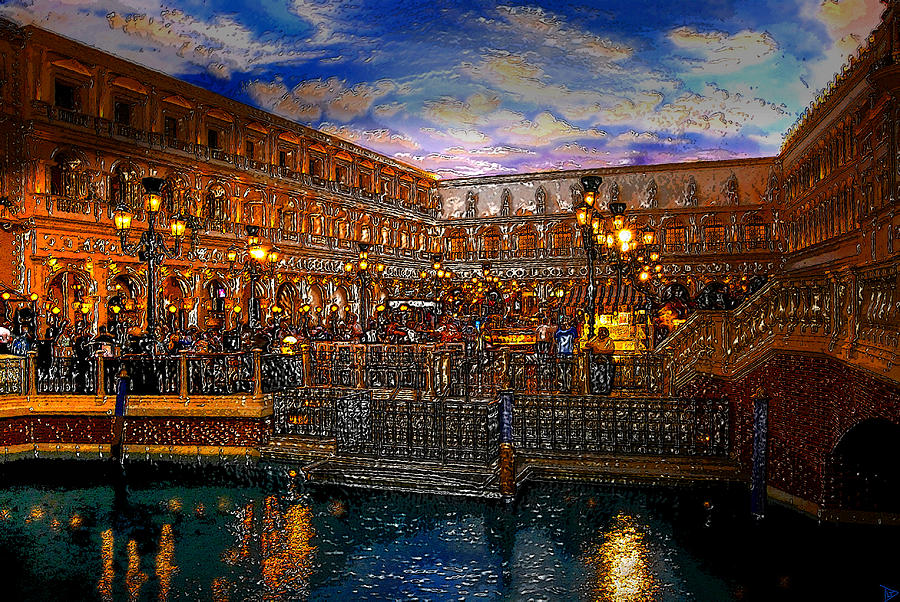 Venice Italy Painting - An Evening In Venice by David Lee Thompson