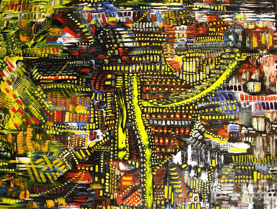 Michael Kulick Painting - An Exercise In Yellow by Michael Kulick