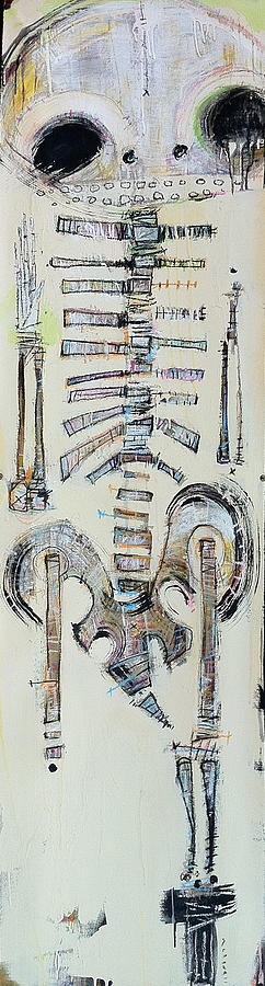 Skeleton Painting - An Existence Of Which We Have No Understanding by Mark M  Mellon