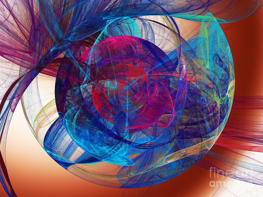 Abstract Digital Art - An Eye To The Soul by Andee Design