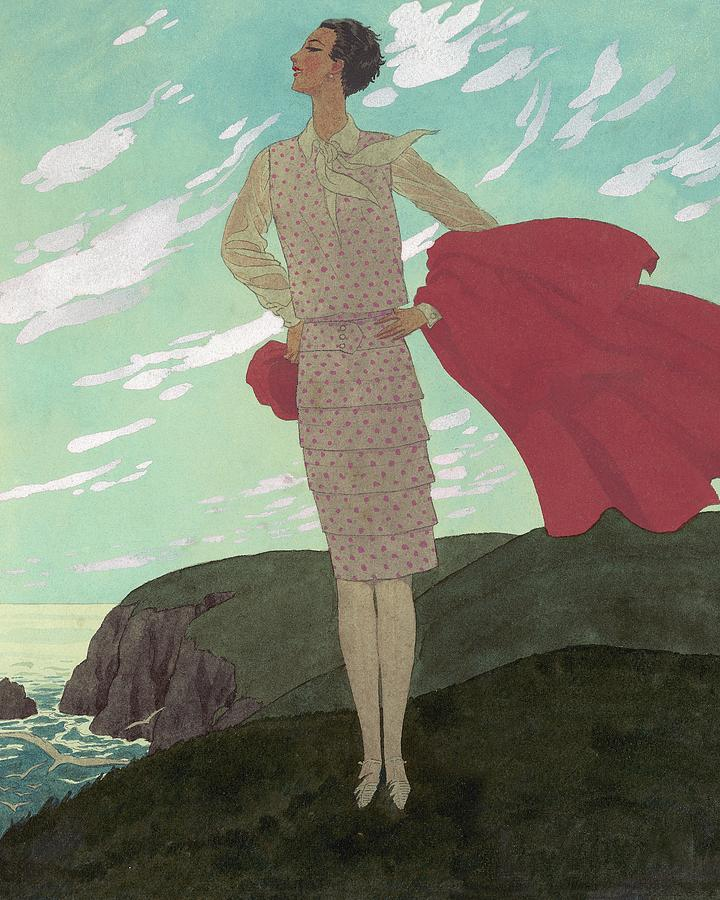 An Illustration Of A Young Woman For Vogue Digital Art by Pierre Brissaud
