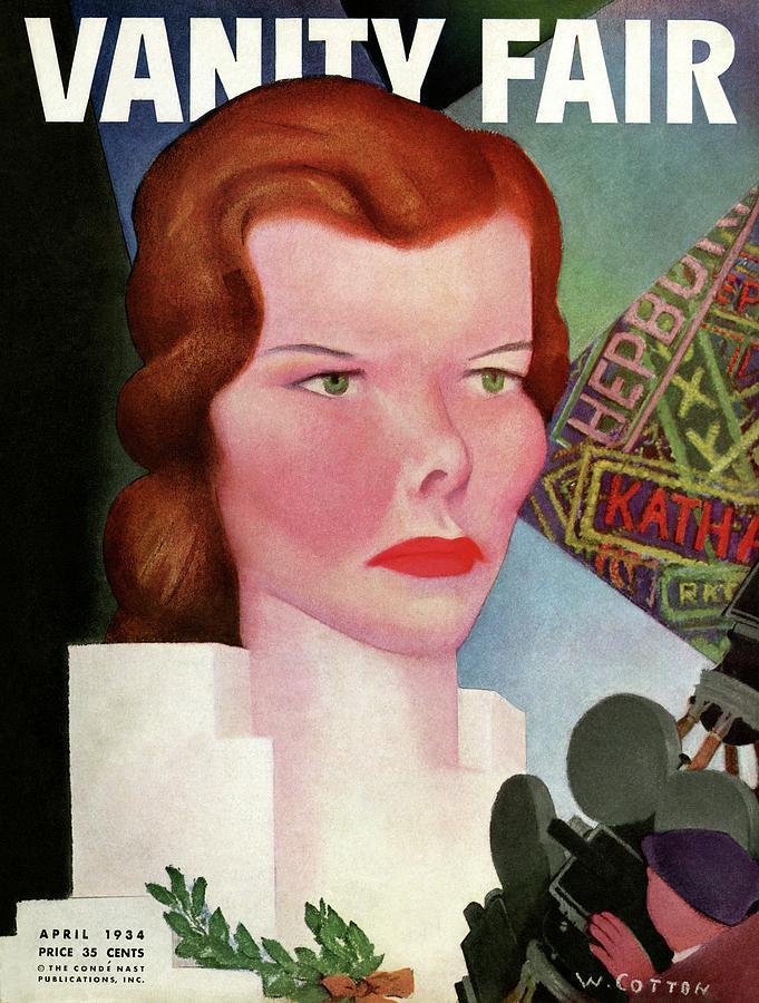 Katharine Hepburn Vanity Fair Cover Photograph by William Cotton