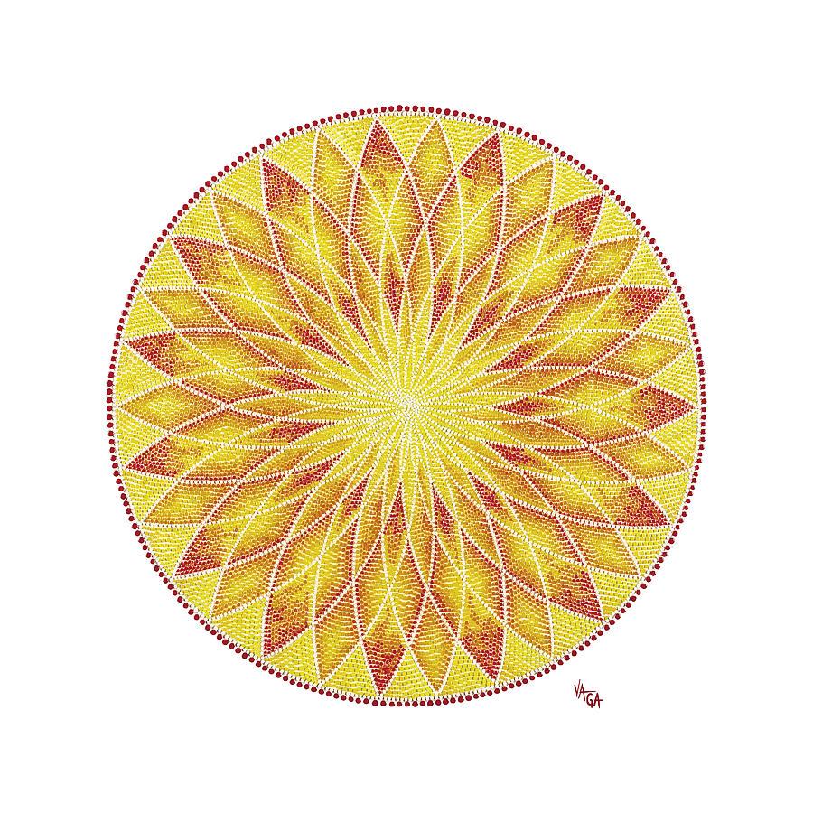 Mandala Painting - An Instant by Vanda Omejc
