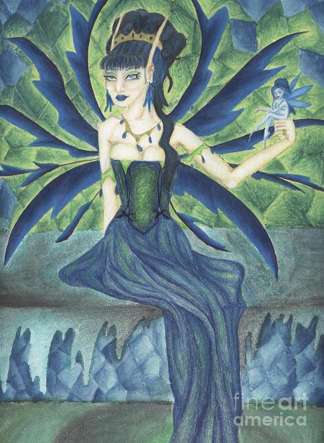 Faery Mixed Media - An Ironic Portrait Of Royalty by Coriander  Shea