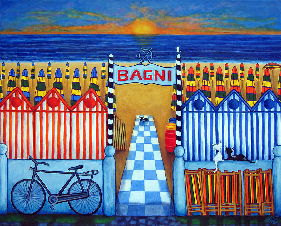Lisa Lorenz Painting - An Italian Summers End by Lisa  Lorenz