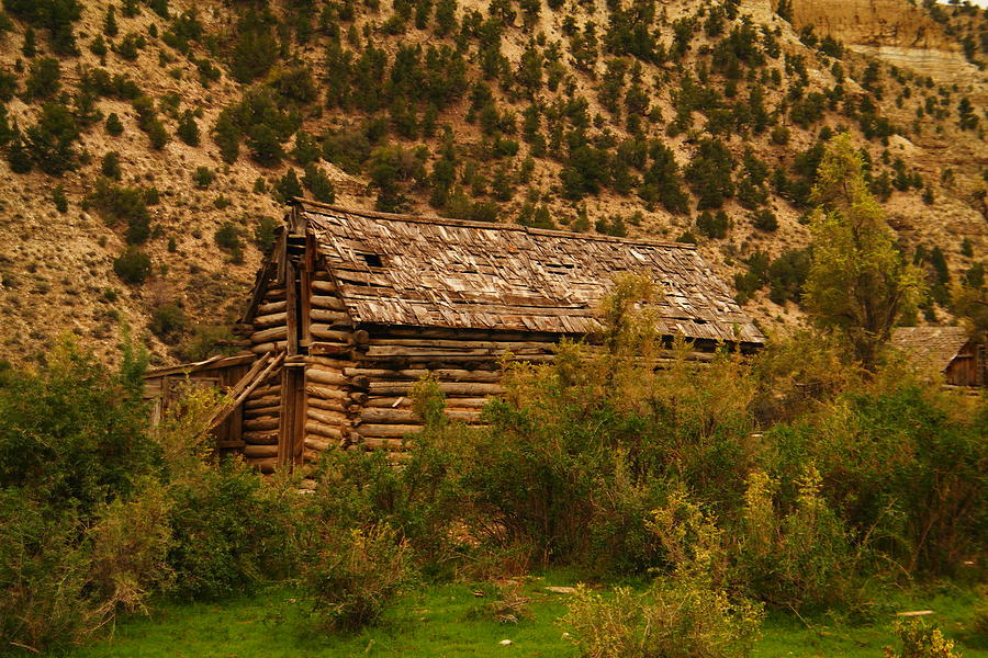 Cabins Photograph - An Old Cabin In Utah by Jeff Swan