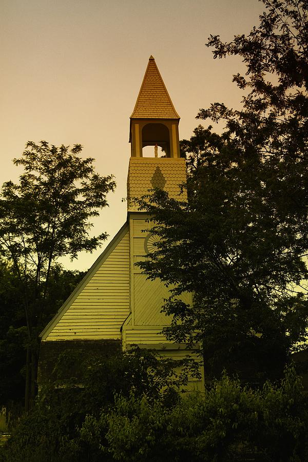 Wood Photograph - An Old Church Near Moxee Wa by Jeff Swan