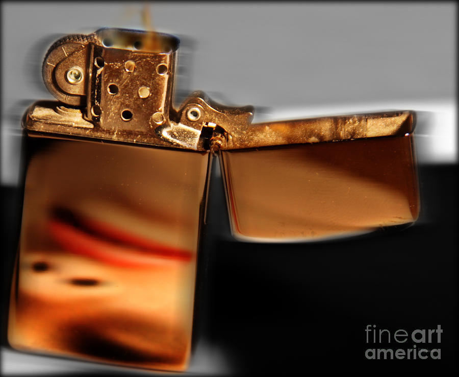 Lighter Photograph - An Old Flame by Steven Digman